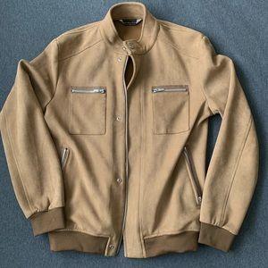 Light brown men's suede jacket